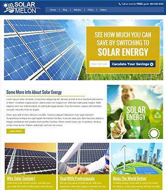אתר לדוגמא בתחום אנרגיה סולרית
